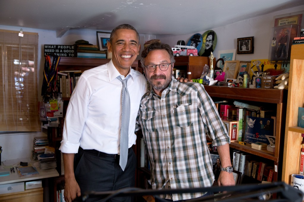 President Barack Obama participates in a podcast with Marc Maron in Los Angeles, Calif., June 19, 2015. (Official White House Photo by Pete Souza)
